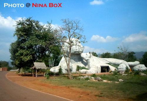 Giant tiger statue at Kanchanaburi