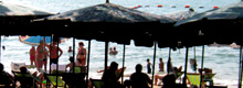 pattaya beach under umbrella